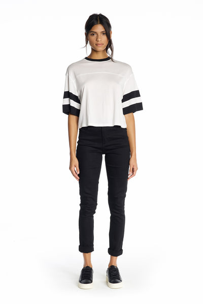 DOUBLE STRIPE TEE TOPS by KENDALL + KYLIE