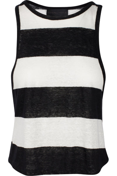 STRIPED LOW-CUT TANK