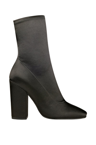 HAILEY SATIN BOOT SHOES by KENDALL + KYLIE