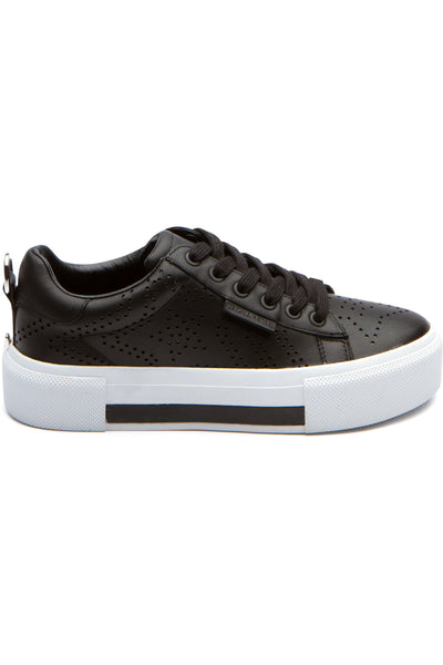 TYLER BLACK LEATHER SNEAKER SHOES by KENDALL + KYLIE