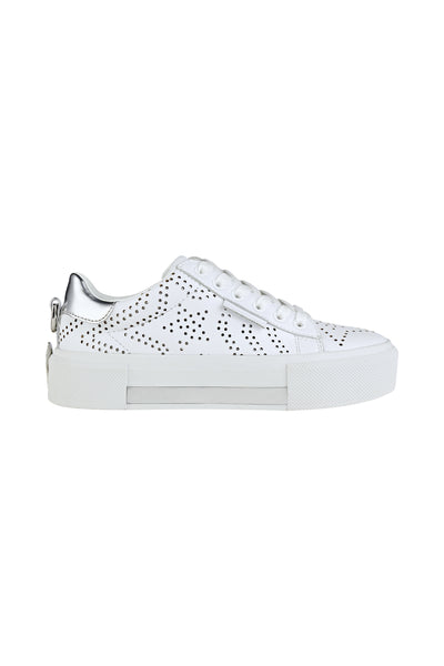 TYLER WHITE LEATHER SNEAKER SHOES by KENDALL + KYLIE