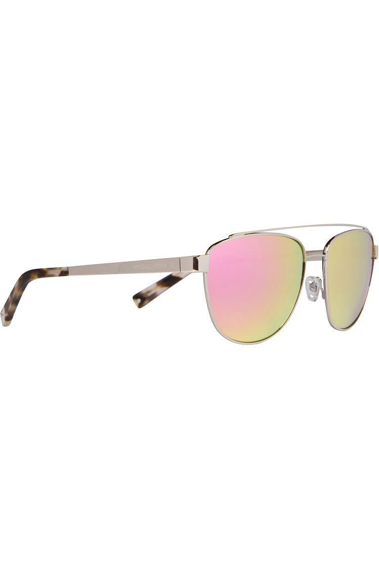 LEXI SILVER METAL AND PINK MIRROR SUNGLASSES EYEWEAR by KENDALL + KYLIE