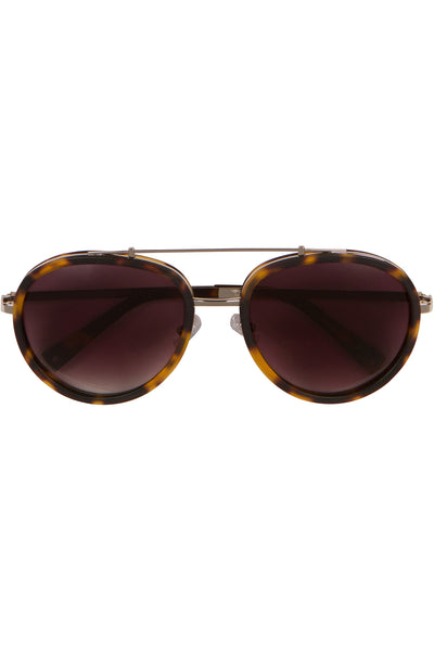 JULES DARK DEMI MATTE METAL SUNGLASSES