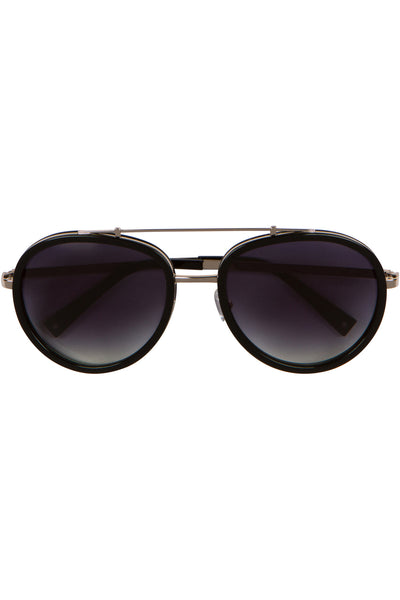 JULES BLACK AND GOLD METAL SUNGLASSES