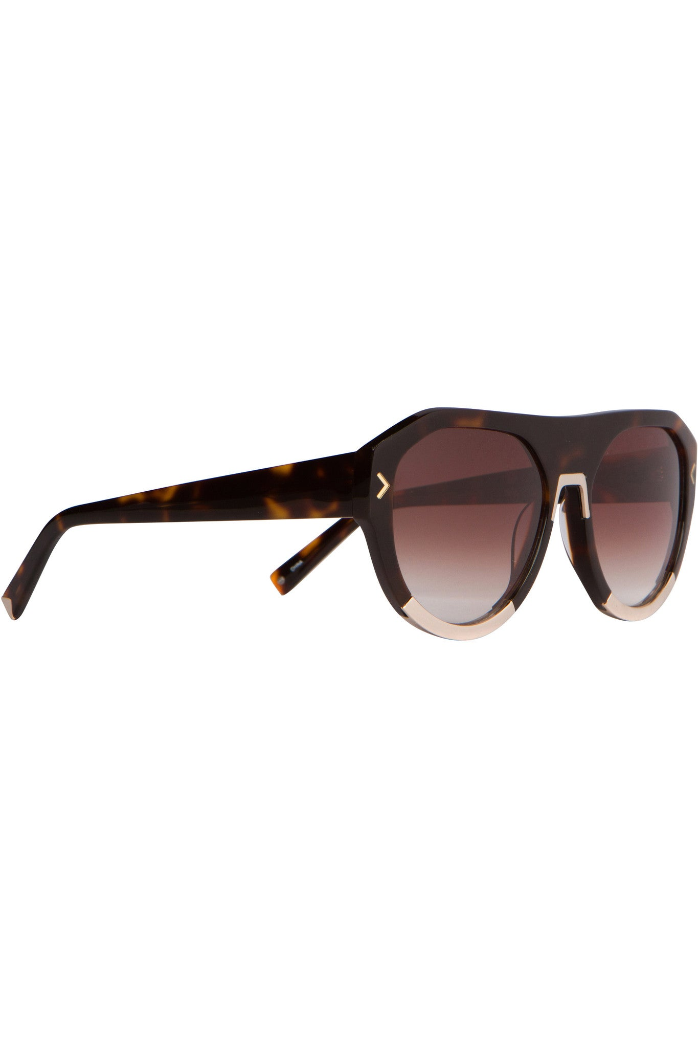 MERCY DARK DEMI AND SHINY GOLD METAL SUNGLASSES EYEWEAR by KENDALL + KYLIE