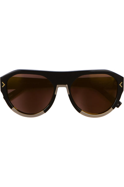 MERCY SHINY BLACK GOLD METAL SUNGLASSES EYEWEAR by KENDALL + KYLIE