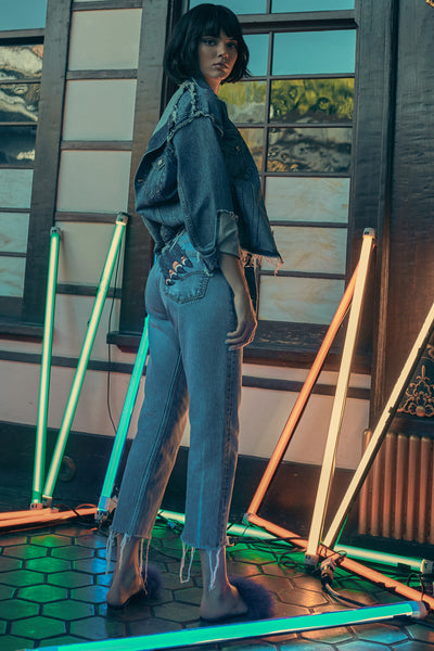 SLASH VINTAGE DENIM PANTS by KENDALL + KYLIE