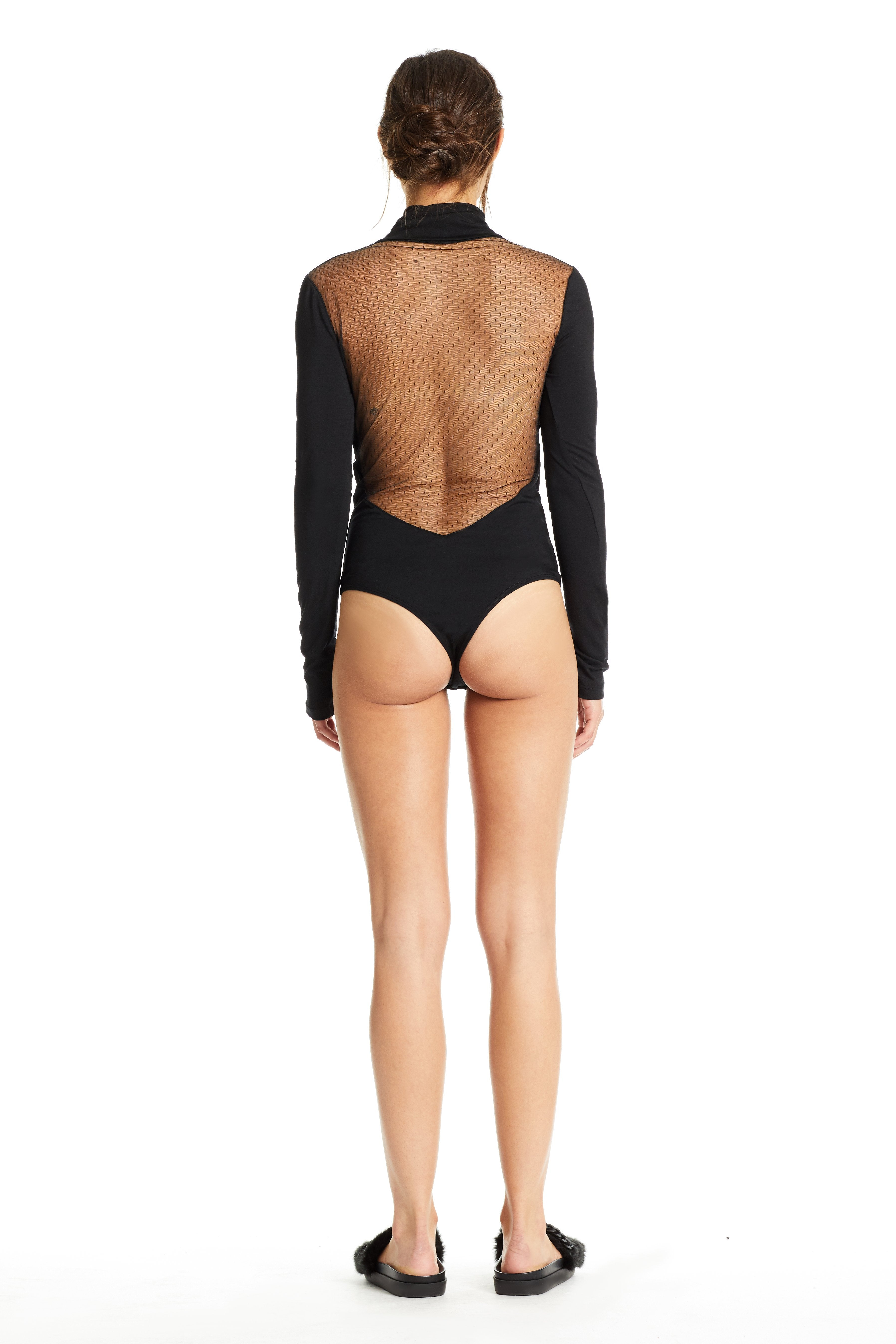 MESH OPEN BACK BODYSUIT