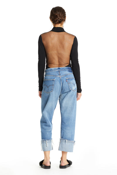MESH OPEN BACK BODYSUIT BODYSUITS by KENDALL + KYLIE