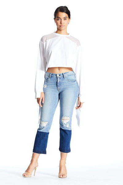 MESH INSET TEE TOP by KENDALL + KYLIE