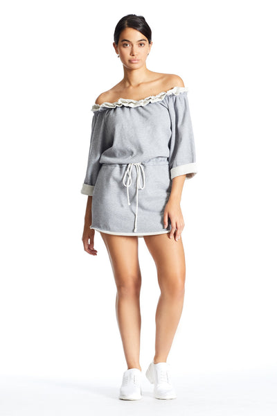 OFF SHOULDER SWEATSHIRT DRESS