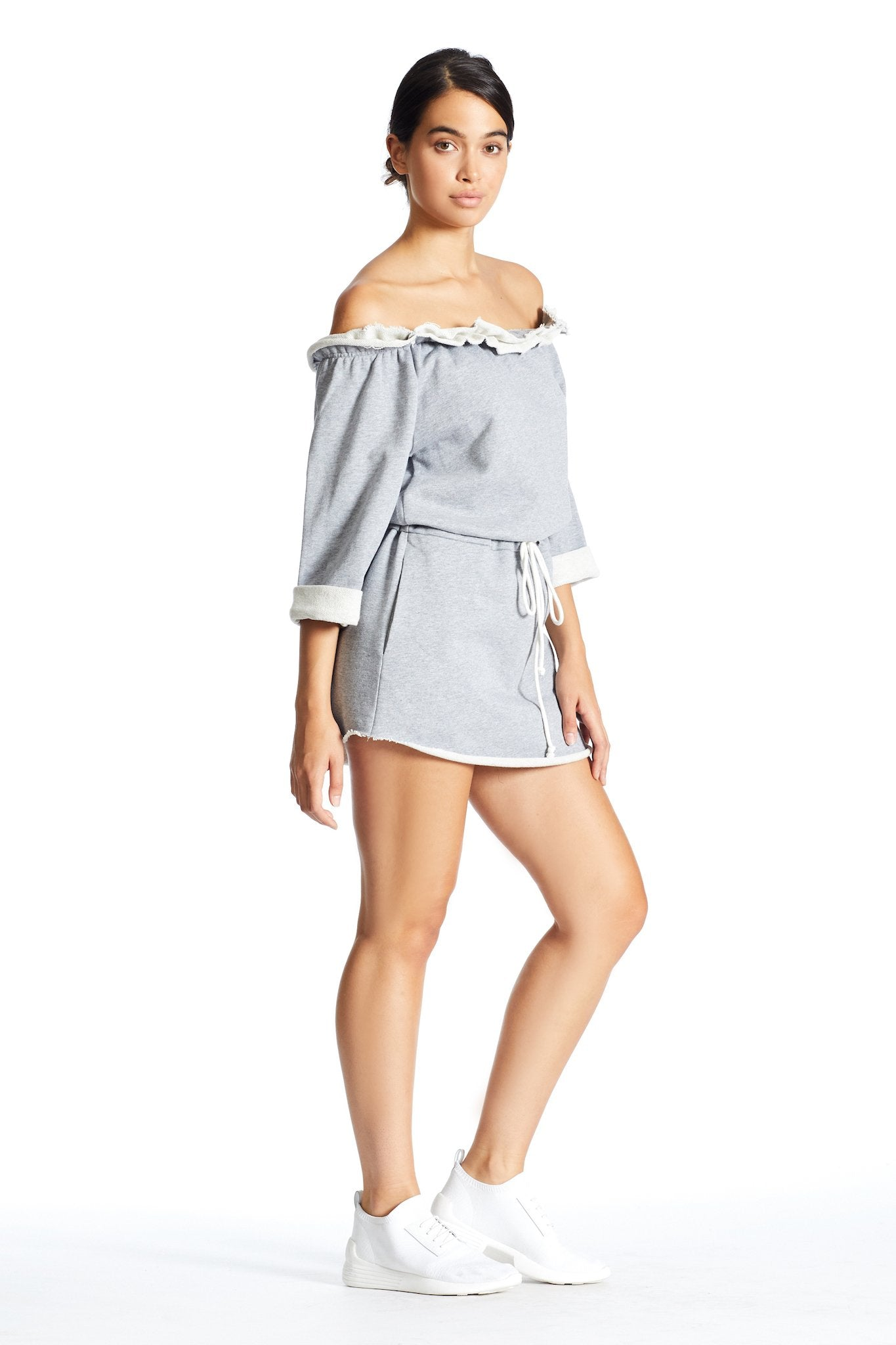 OFF SHOULDER SWEATSHIRT DRESS DRESS by KENDALL + KYLIE