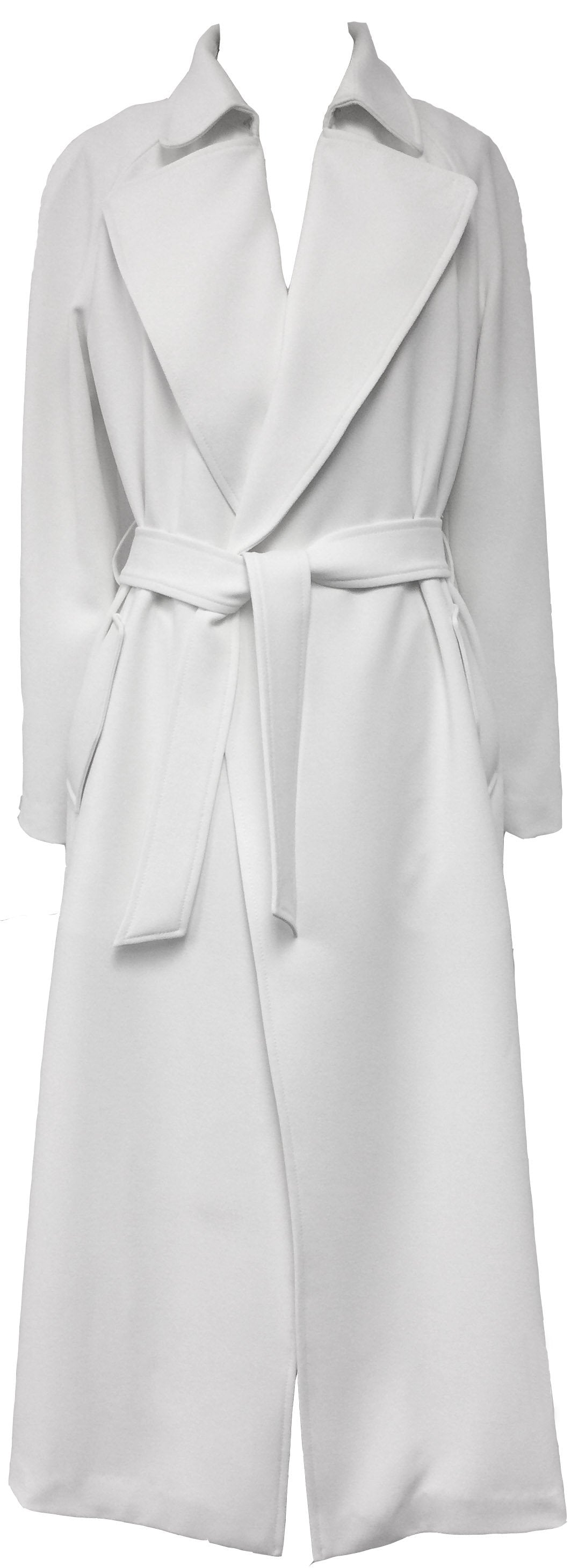 WHITE LONG TRENCH COAT