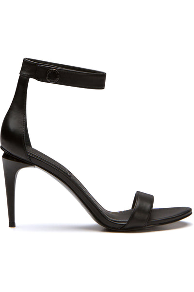 MADELYN BLACK LEATHER SANDAL