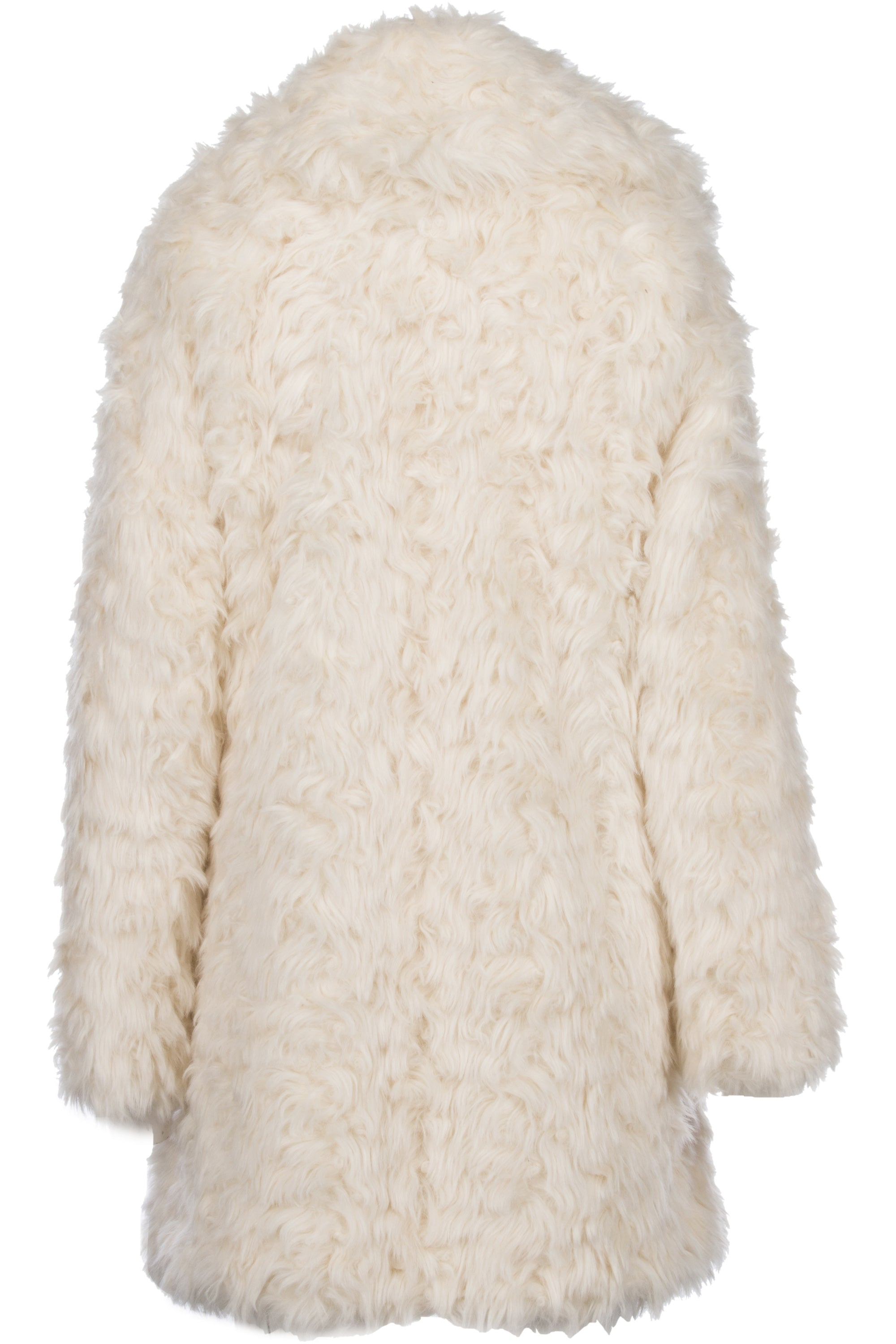IVORY FUR COAT JACKETS by KENDALL + KYLIE