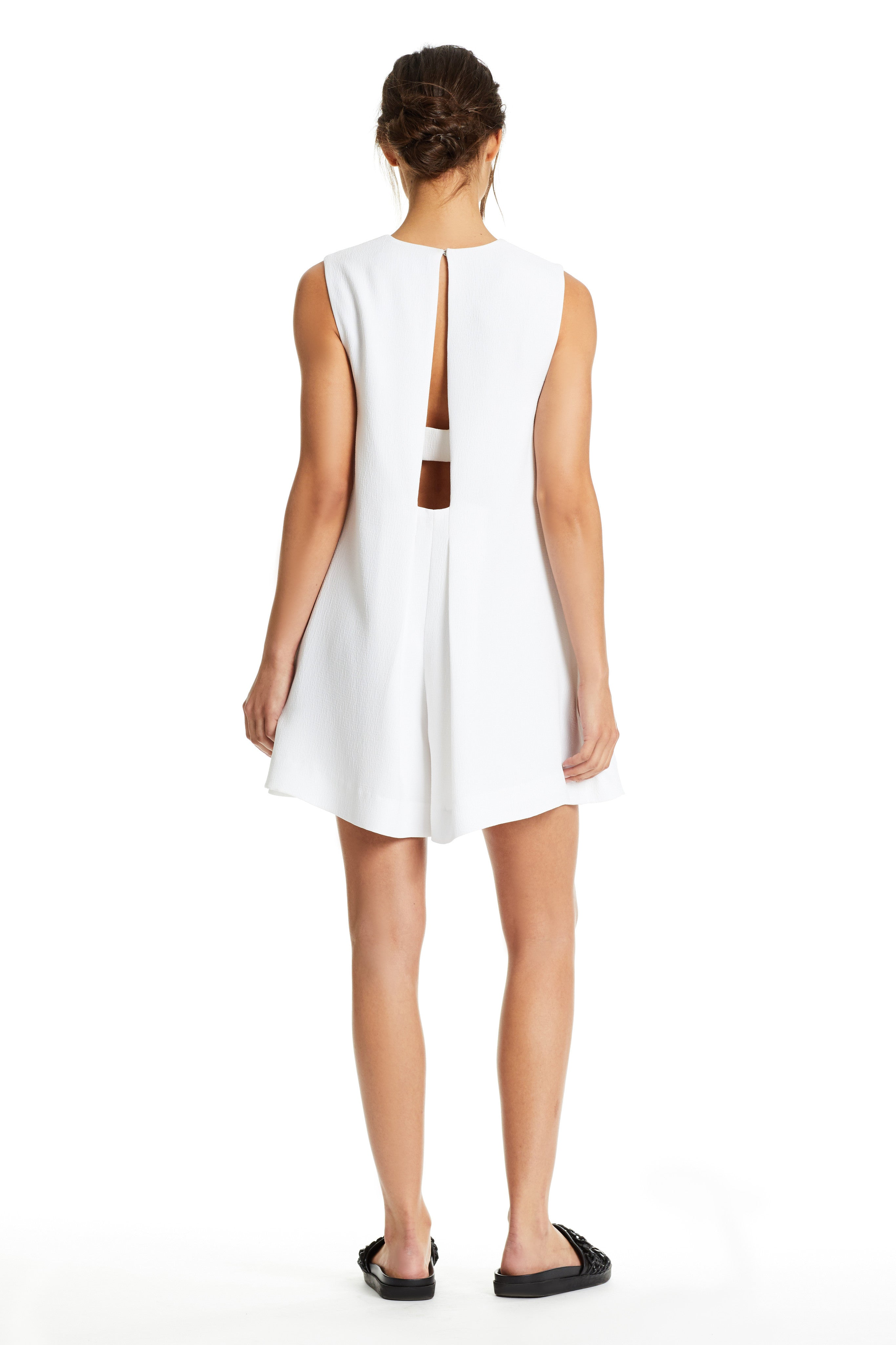 OPEN BACK CREPE ROMPER ROMPERS by KENDALL + KYLIE
