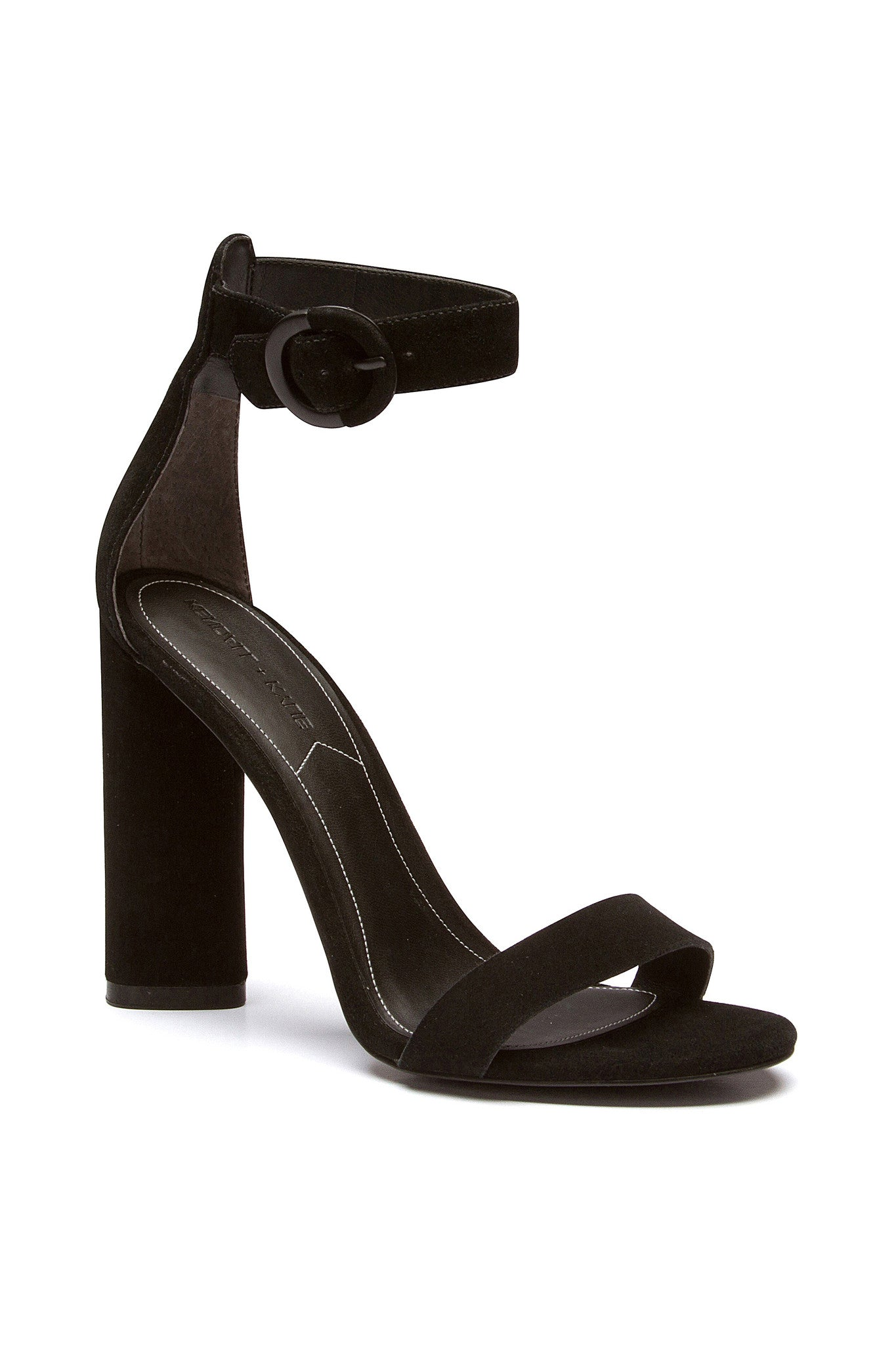 GISELLE BLACK SUEDE SANDAL SHOES by KENDALL + KYLIE