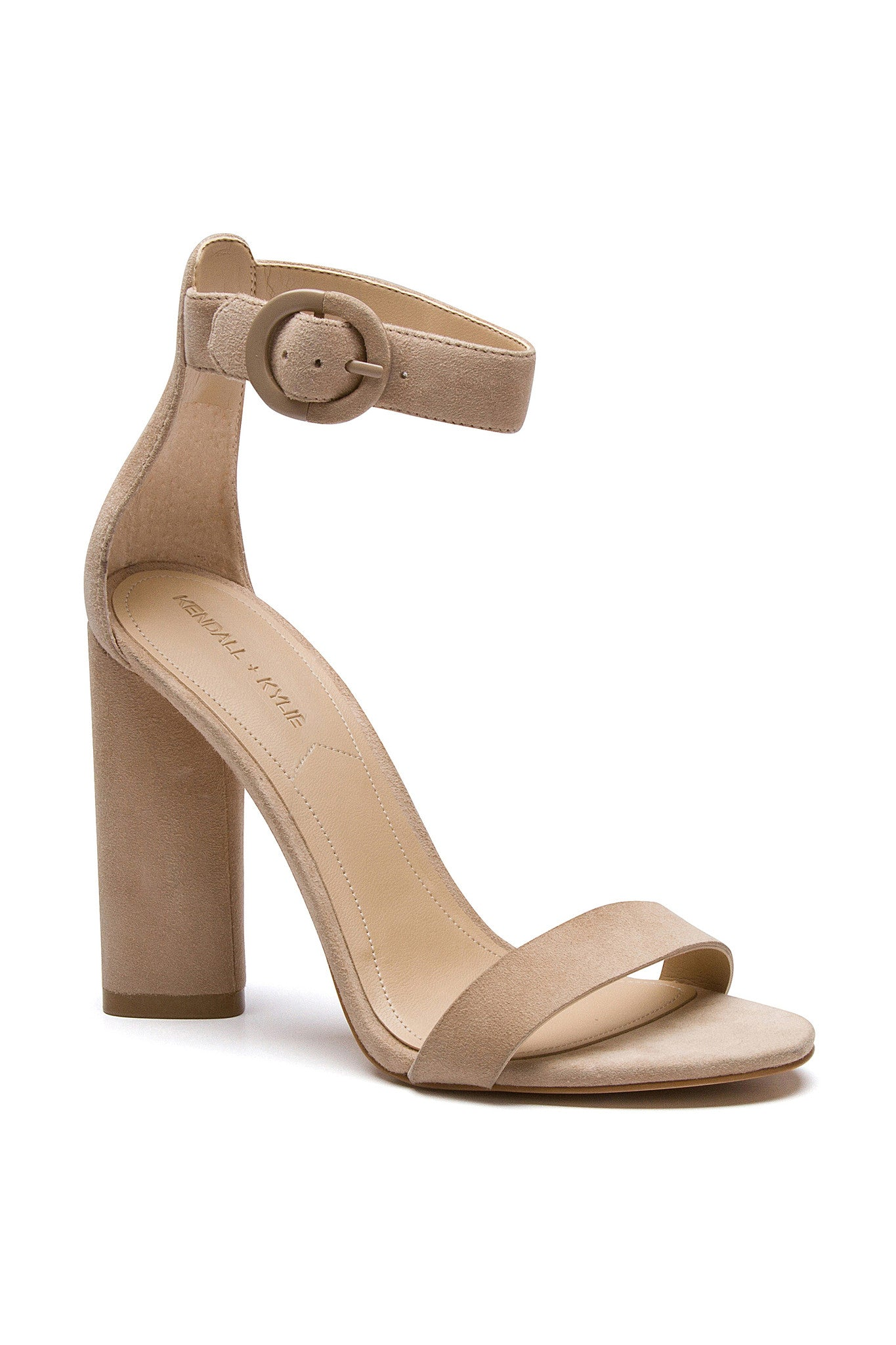 GISELLE LIGHT NATURAL SUEDE SANDAL
