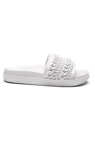 SHILOH SLIDE WHITE LEATHER