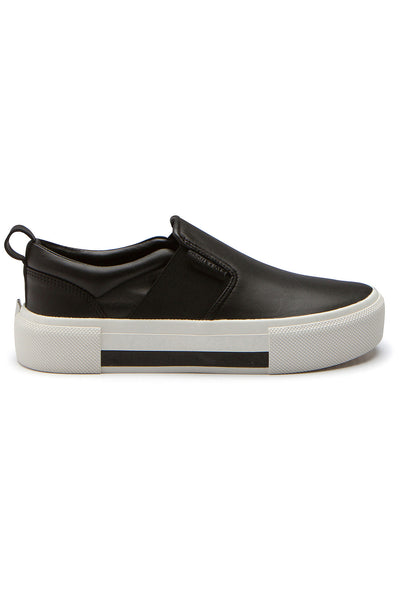 TENLEY BLACK LEATHER SNEAKER SHOES by KENDALL + KYLIE