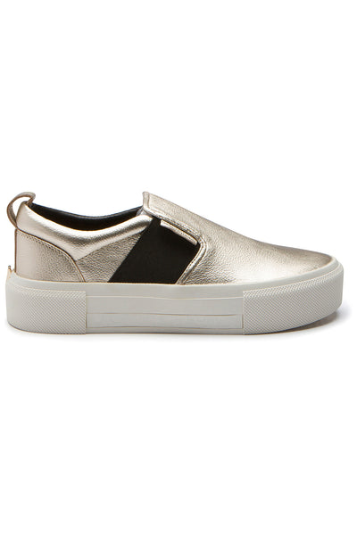 TENLEY GOLD LEATHER SNEAKER SHOES by KENDALL + KYLIE