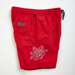 custom embroidery mens swim trunks swimsuit collection designer classic red octopus