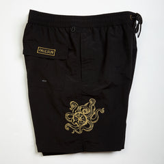 custom embroidery mens swim trunks swimsuit collection designer classic black octopus