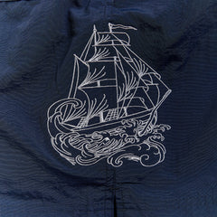 Men's swim, Embroidered Sea Forever Ship