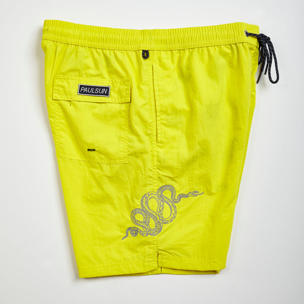 custom embroidery mens swim trunks swimsuit collection designer classic yellow serpent