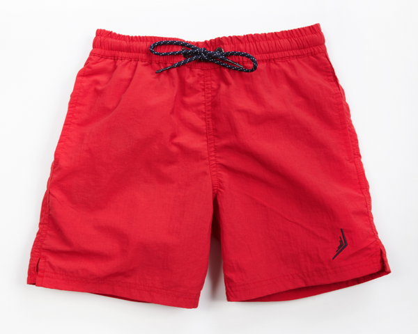 nautical boys sailing swimwear swim trunks swimsuit designer classic red nautical Americana