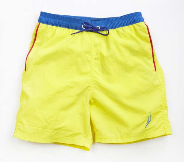 nautical Americana mens swimsuit swim trunks classic style designer yellow