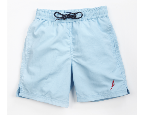 nautical boys sailing swimwear swim trunks swimsuit designer classic baby blue light blue powder blue nautical Americana