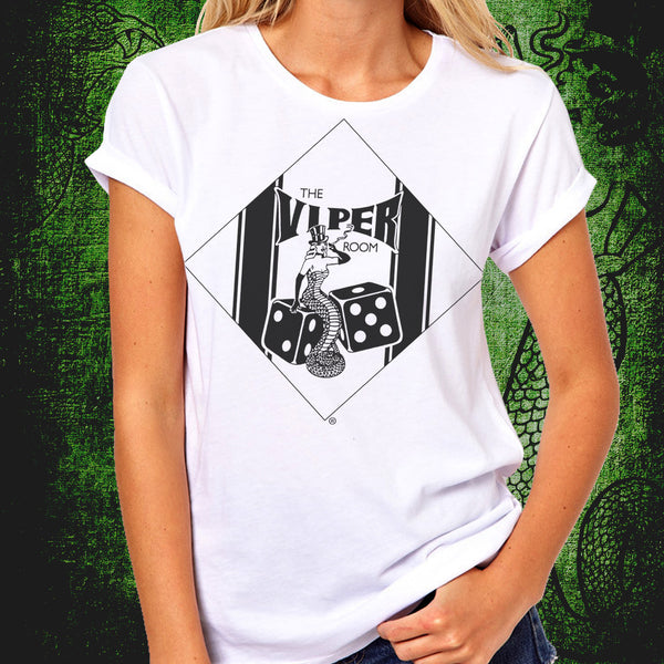Viper Classic Dice Logo White or Black T-Shirt Women's