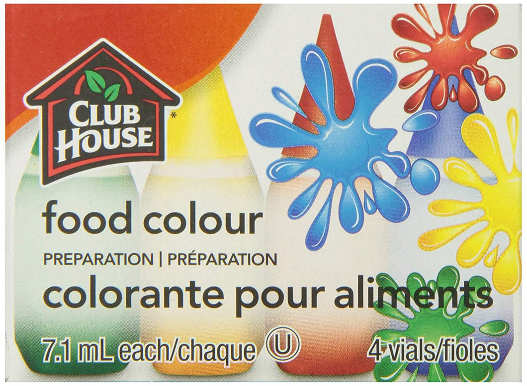 Club House 4-Pack Food Colouring
