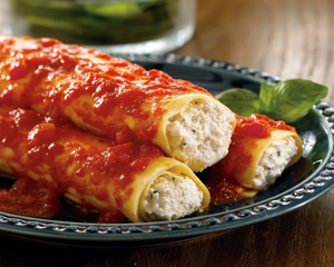 Zarky's Signature Italian Style Manicotti with Cheese-Large FEEDS 6 to 8 people