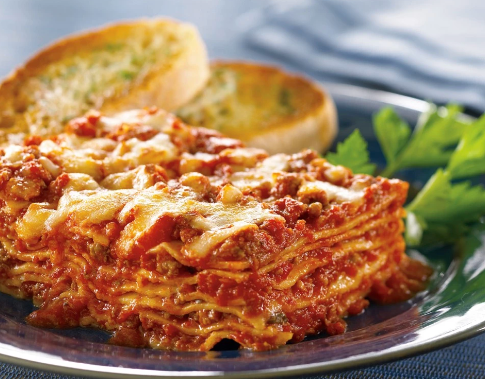 Zarky's Signature Italian Style Lasagna with Meat- Large FEEDS 6 to 8 people