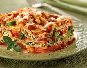 Zarky's Signature Italian Style Vegetable Lasagna-Large FEEDS 6 to 8 people