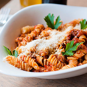 Zarky's Italian Style Baked Rotini with Italian Sausage-Feeds 2 to 4 people
