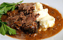 Load image into Gallery viewer, The Village Kitchen Pot Roast with Gravy - Large Feeds 2 to 4 people