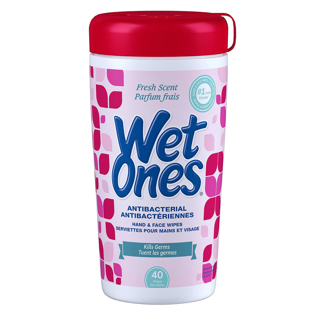 Wet Ones Antibacterial Fresh Scented Hand and Face Wet Wipes - 40 count