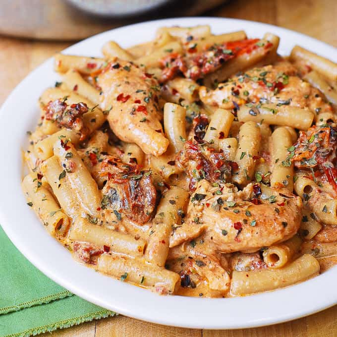 Zarky's Italian Style Sundried Tomato Penne with Chicken