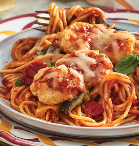 Zarky's Italian Style Chicken Parmigiana with Linguine-Feeds 2 to 4 people
