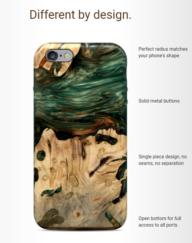 Live Edge Wooden Phone Cases by Carved