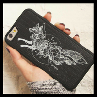 Geometric Fox Wooden iPhone Case by Carved