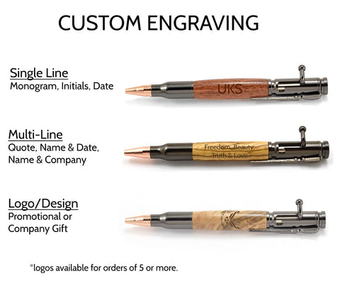 Wood Pen Engraving Options