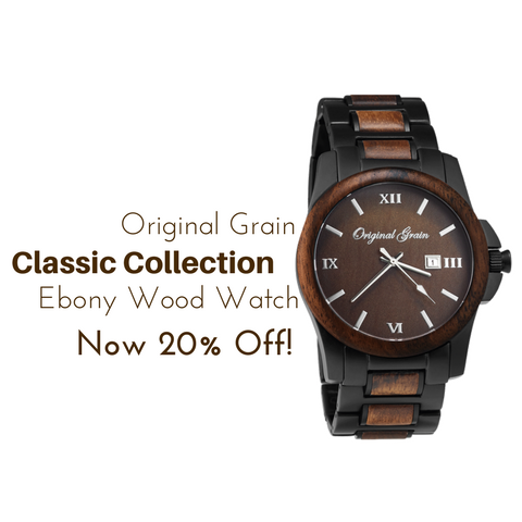Original Grain Classic Collection Ebony Wood Watch