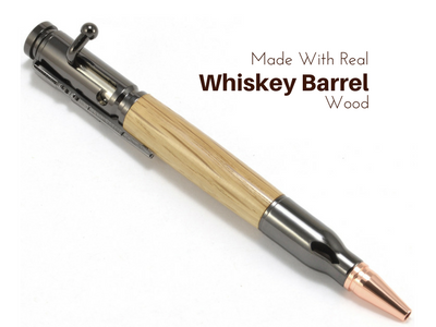 Bolt Action Whiskey Barrel Pen from The Wood Reserve