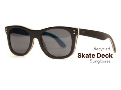 Recycled Skate Deck Sunglasses From Cassette