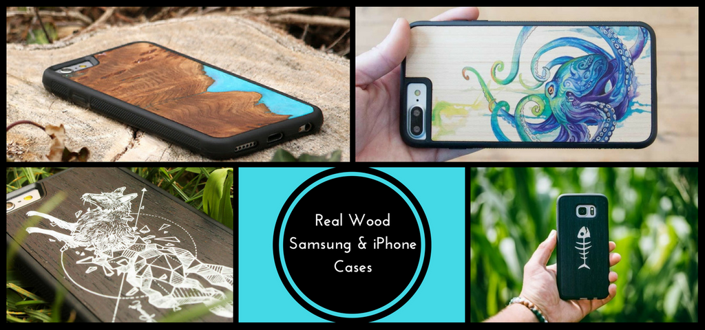 Premium One-Of-A-Kind iPhone & Samsung Wooden Phone Cases
