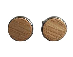 Whiskey Barrel Cufflinks from The Wood Reserve